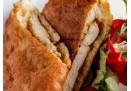 Lángostésztában Sült Csirkemell Filé Friss Salátával